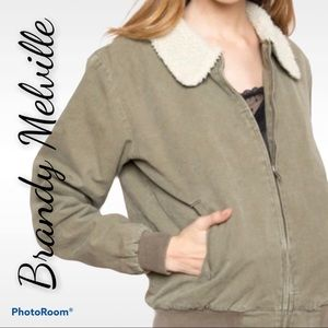 Brandy Melville XS Nelson sherpa jacket coat